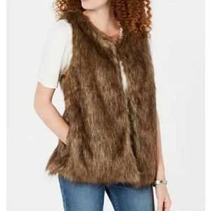 BRAND NEW! Say What Faux Fur Vest